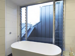 South Melbourne 1 Walls - Emotions Black + Touch White Floors - Ono Black by Mutina  Click here to view Bathroom 2 of Residence Click here to view Bathroom 3 of Residence Click here to view Powder Room of Residence
