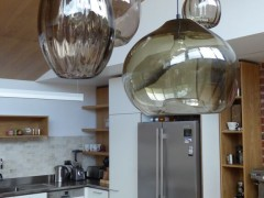 Brunswick Kitchen Splashback - Melange  Kitchen by Cantilever Interiors