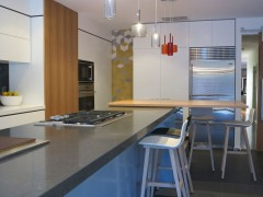 Sandringham Kitchen Splashback - Tex White + Yellow + Grey by Mutina + Raw Edges  Kitchen by Cantilever Kitchens