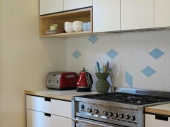 Thornbury Kitchen Splashback - Tex White + Blue by Mutina + Raw Edges  Kitchen by Cantilever Kitchens