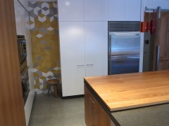Brunswick Kitchen Splashback - Tex White, Grey + Yellow by Mutina + Raw Edges  Kitchen by Cantilever Interiors