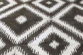 Encaustic Cement Tile Ikat Black & White