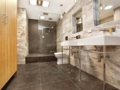 Fitzroy Bathroom Walls - Rain Forest Silver Floors - Number 21 Black by Viva