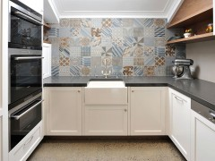 Middle Park Kitchen Splashback - Azulej by Patricia Urquiola + Mutina, Grigio Combination Designer - Eat.Bathe.Live Photographer - May Photography